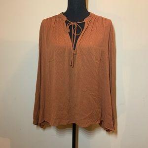 Lush Long Sleeved Pumpkin Blouse